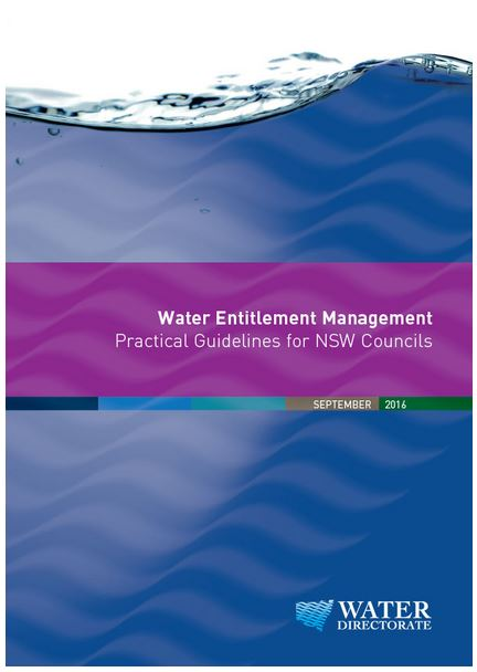 Water Entitlement Management - Practical Guidelines from NSW Councils